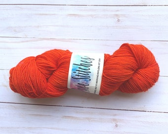 hand dyed 85/15 high twist, super wash  fingering merino nylon wool