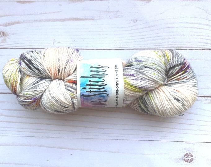 hand dyed 85/15 high twist, super wash  fingering merino nylon wool