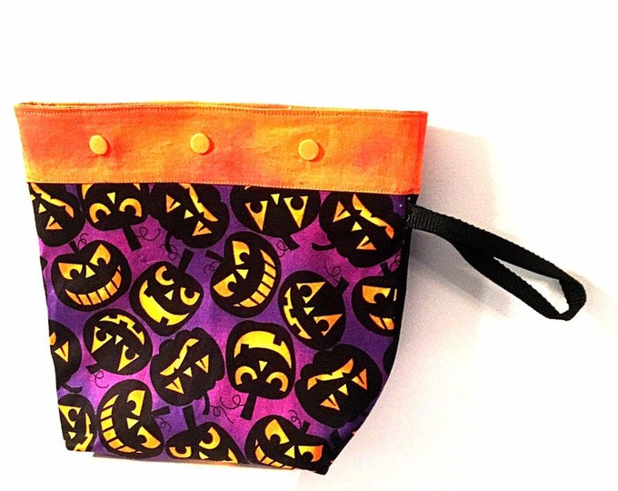 Small Halloween Snap Project Bag