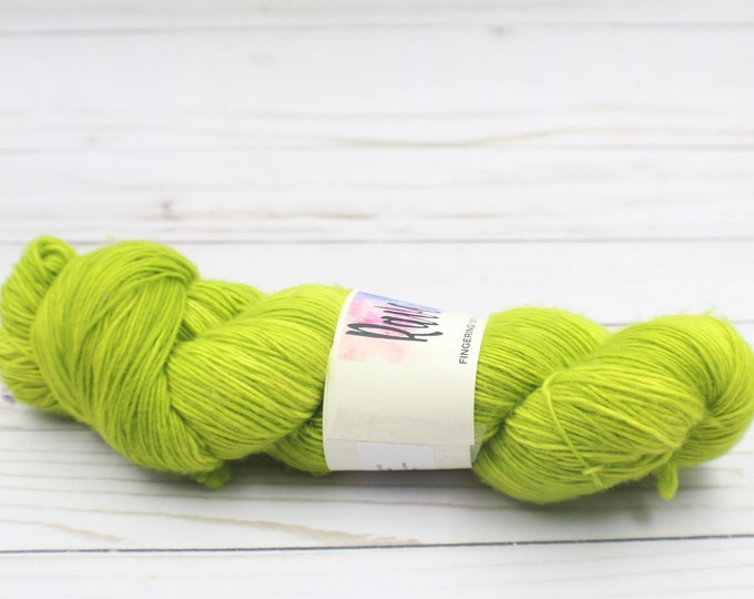 indie dyed yarnHand dyed 100%  super wash merino single ply yarn
