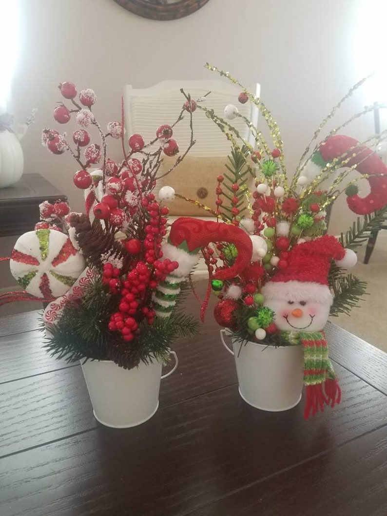 Christmas Centerpiece, Tabletop Decor, Floral Arrangements, Christmas Decor