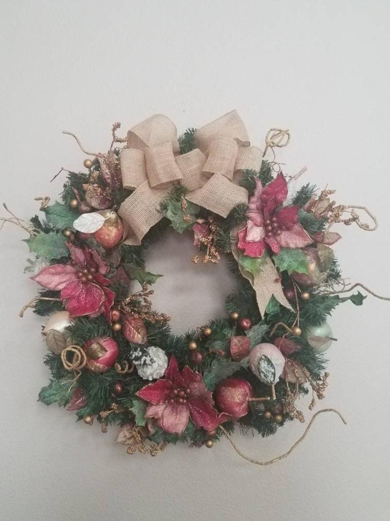 Christmas Wreath Wall Decor Holiday Wreath Christmas Hanging Wreath Christmas Decor Door Wreath