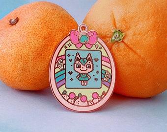 Animal Crossing-Inspired Tangy Cat Tamagotchi Pin