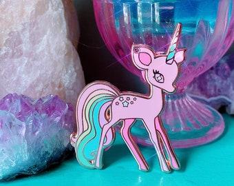 Rainbow Deericorn Magical Unicorn Fawn Pin