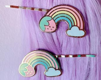 Rainbowlicious Strawberry Barrette Set