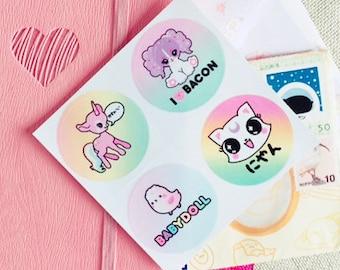 Deericorn and Friends Kawaii Sticker [Set of 4]