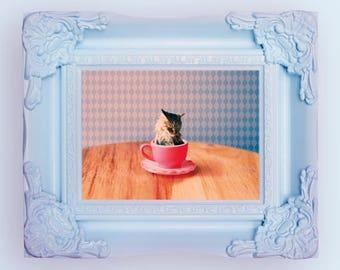 Cat for Tea POP Art Print