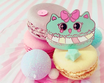 Cat Macaron Pin