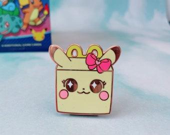 Pokemeal Happy Pikachu Meal Box Pin