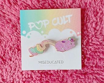 Rainbow Pixietails Glitter Bunny Lavender Pin