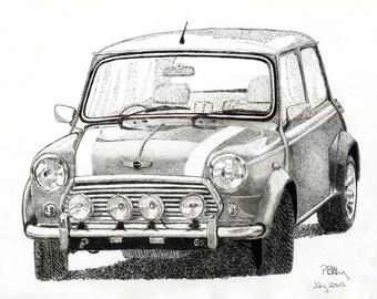 Greeting Card - Pen & Ink Drawing, A5 - Mini