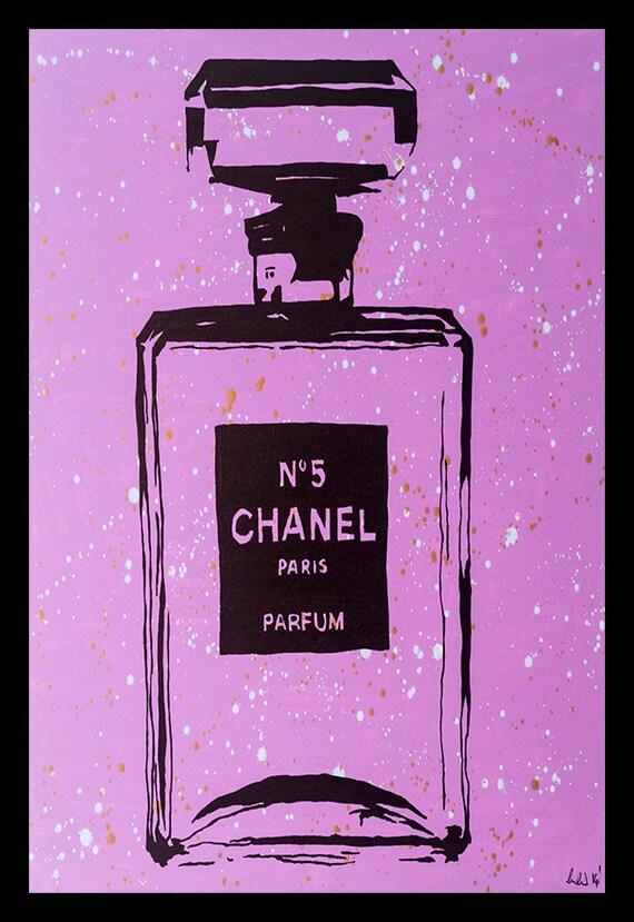 ENMARCADO Chanel morado urbano elegante cartel de 24 x 36 por | Etsy
