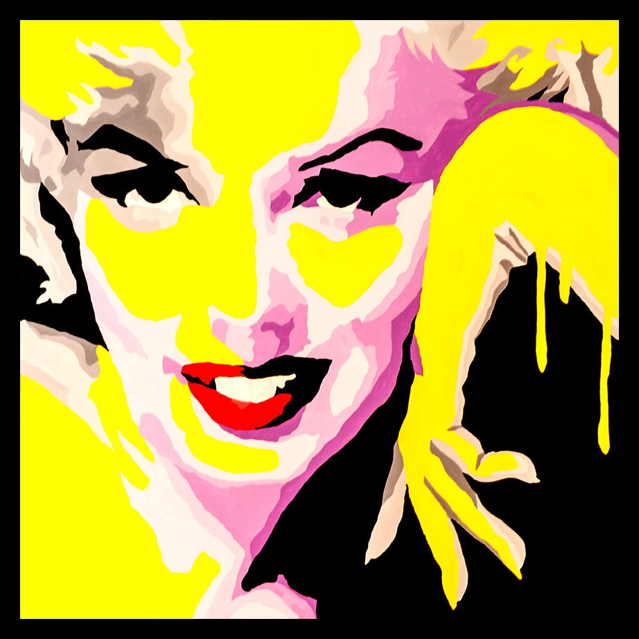 FRAMED Marilyn Monroe Temptress 24x24 Giclee Poster Pop Art | Etsy