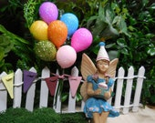 Miniature Birthday Glitter Balloons Fairy Garden Accessories Birthday Party Dollhouse Minis Craft Supplies