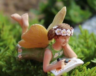 Fairy Accessories School Fairies Figurine ~ Miniature Fairy Figurines For  Garden ~ Fairy Garden Supplies And Accessories ~ Miniature Gardens