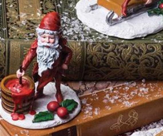 Miniature Dollhouse FAIRY GARDEN ~ Napping Santa Claus CHRISTMAS Figurine