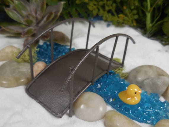 Fairy Garden Bridge Miniature Japanese Style Metal Bridge | Etsy