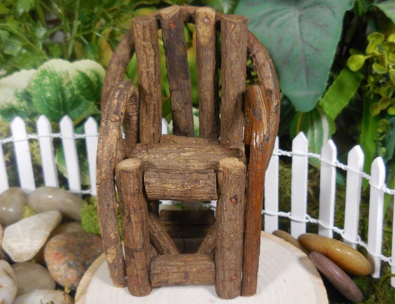 Super Miniature Fairy Garden Grapevine Chair Natural Wood Chair For Fairies Minaiture Garden Furniture Fairy Terrarium Supply Accessory Download Free Architecture Designs Scobabritishbridgeorg