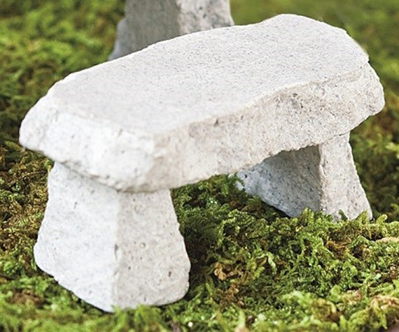 Incredible Miniature Cement Garden Bench For Fairies Fairy Garden Accessories Zen Or Terrarium Figurines Miniatures Ibusinesslaw Wood Chair Design Ideas Ibusinesslaworg
