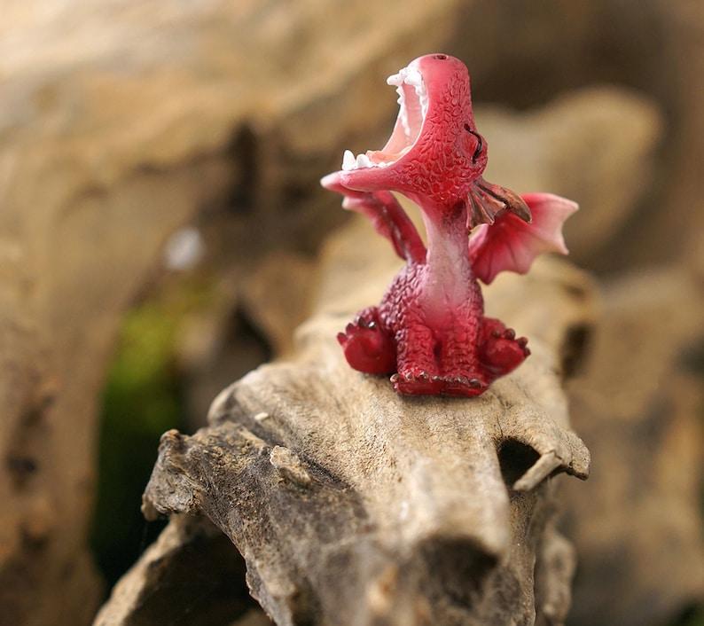 Terrarium Dragon Figurine Miniature Animal Figurine For Etsy