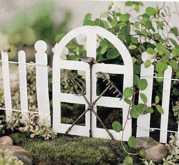 Miniature Fairy Garden Gate French Style Gate White Tiny | Etsy