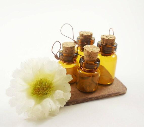 4-17mm Glass Jars Dollhouse Miniature Fairy Garden Bottles  with Corks