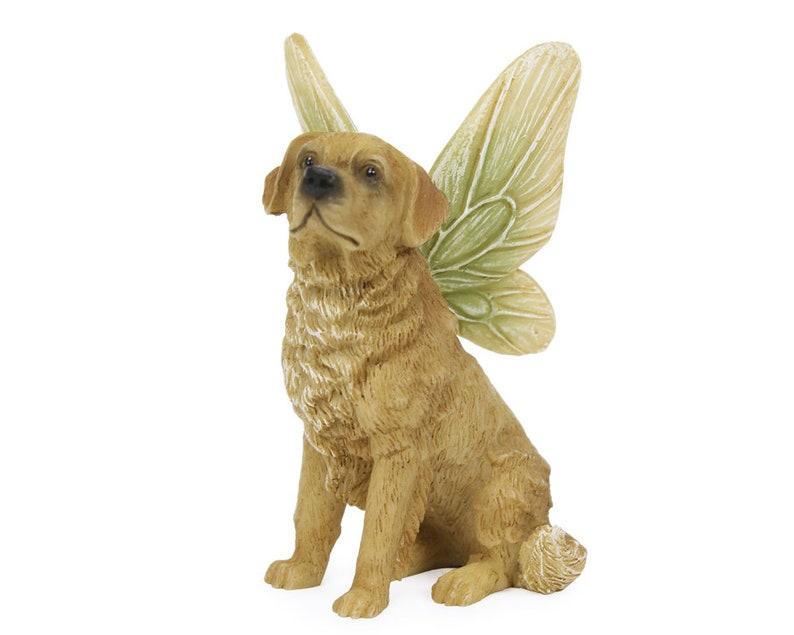 Fairy Accessory Dog w/ Wings ~ Miniature Golden Retriever with Fairy Wings  ~ Miniature Pets for Fairies ~ Fairy Garden Supply & Accessory