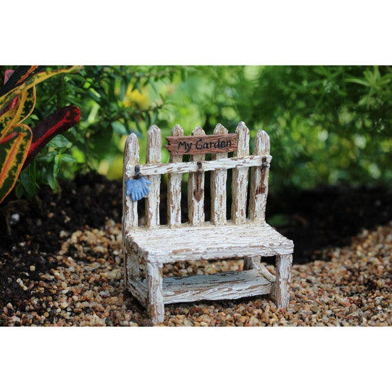 Tremendous Miniature Garden Bench Fairy Garden Accessory Rustic White Bench For Fairies Tiny Furniture For Terrarium Fairy Garden Supplies Ibusinesslaw Wood Chair Design Ideas Ibusinesslaworg