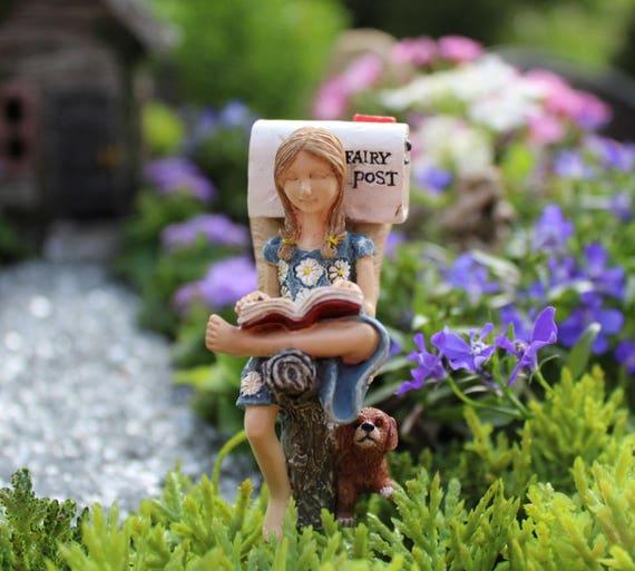 Miniature Dollhouse FAIRY GARDEN ~ Rustic Black Mailbox Pick ~ NEW