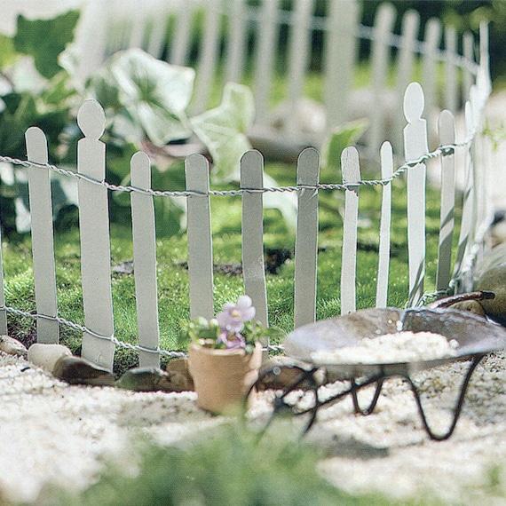 Clôture de jardin miniature blanc métal fée ~ Hampton blanc petite ...