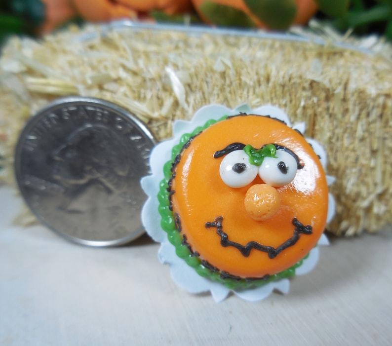 Fairy Garden Pumpkin Face Cake ~ Miniature Halloween Dollhouse Foods