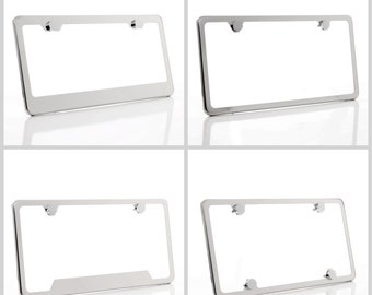 Humor Car License Plate Cover Holder for Front or Back License Tag for US Standard 2 Holes with Screws Custom Auto Frames License Plate Frame Aluminum Metal