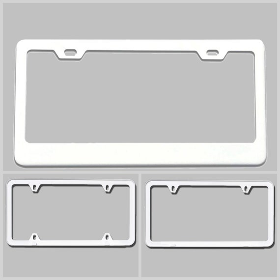 Powder Coated Matte White Stainless Steel License Plate Frame