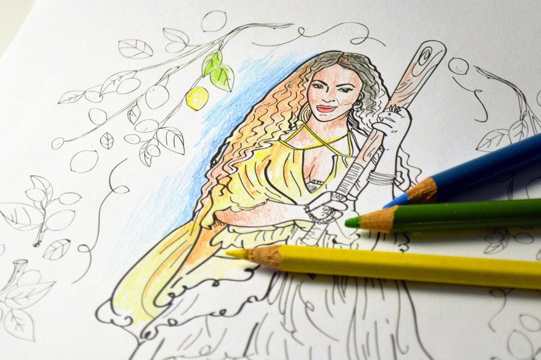 Beyonce Lemonade adult coloring sheet / printable art print | Etsy