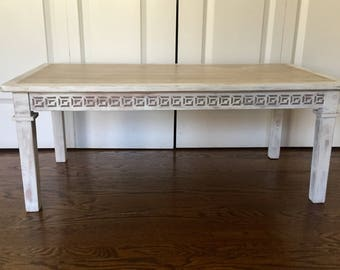 Coffee Table, TV Stand Or Bench With Greek Key Decoration.
