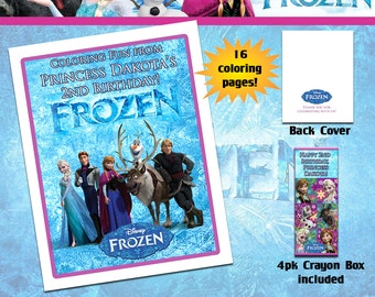 Disney Frozen Coloring Book With Crayons
