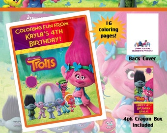 Trolls Poppy Coloring Book with Crayons