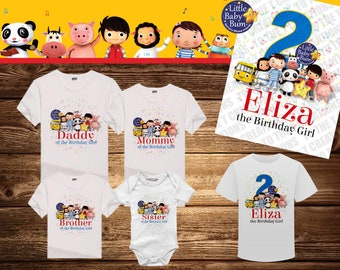 Little Baby Bum Personalized Birthday Shirt For Any Family Member Or Other