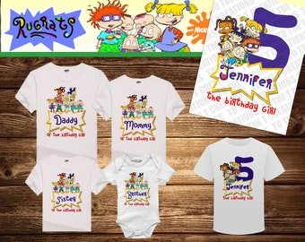 53436ad2e7f4 Rugrats Personalized Birthday Shirt - Tshirt - Onesie - Mom - Dad - Sister  - Brother - Any Name-Add Tutu Headband -Choose your colors