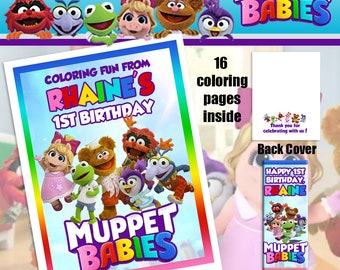 Muppet Babies Coloring Book With Crayons