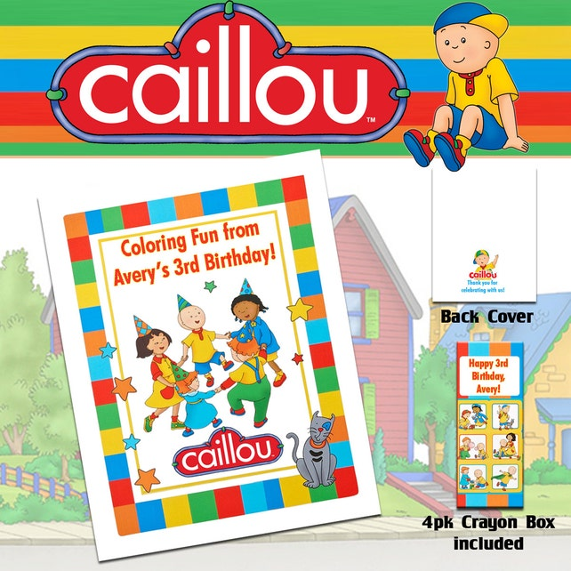 Caillou Coloring Book & Crayons/Birthday Party | Etsy