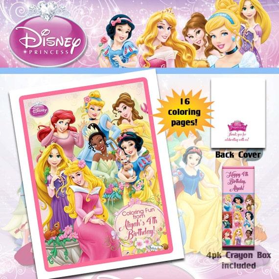 Disney Princesses Coloring Book with Crayons