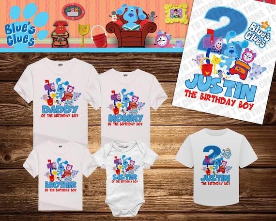 3235b7775 Blues Clues Personalized Birthday Shirt Tshirt Onesie | Etsy
