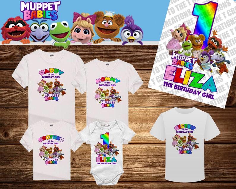 2b1456754 Muppet Babies Personalized Birthday Shirt Mom Dad Sister | Etsy