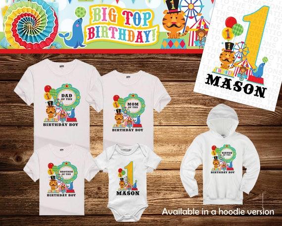 Fisher Price Baby Circus Personalized Birthday Shirt Tshirt