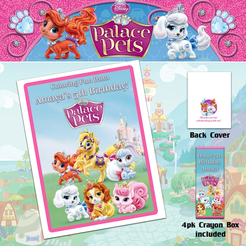 - Palace Pets Coloring Book With Crayons/Birthday Party Etsy