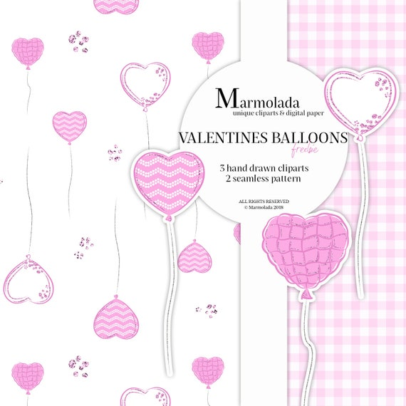 graphic relating to Valentine Clip Art Free Printable named Valentines Printable Freebie Valentine Clipart Electronic Paper Absolutely free down load Centre Balloons clip artwork Crimson Seamles Routine Valentine Planner