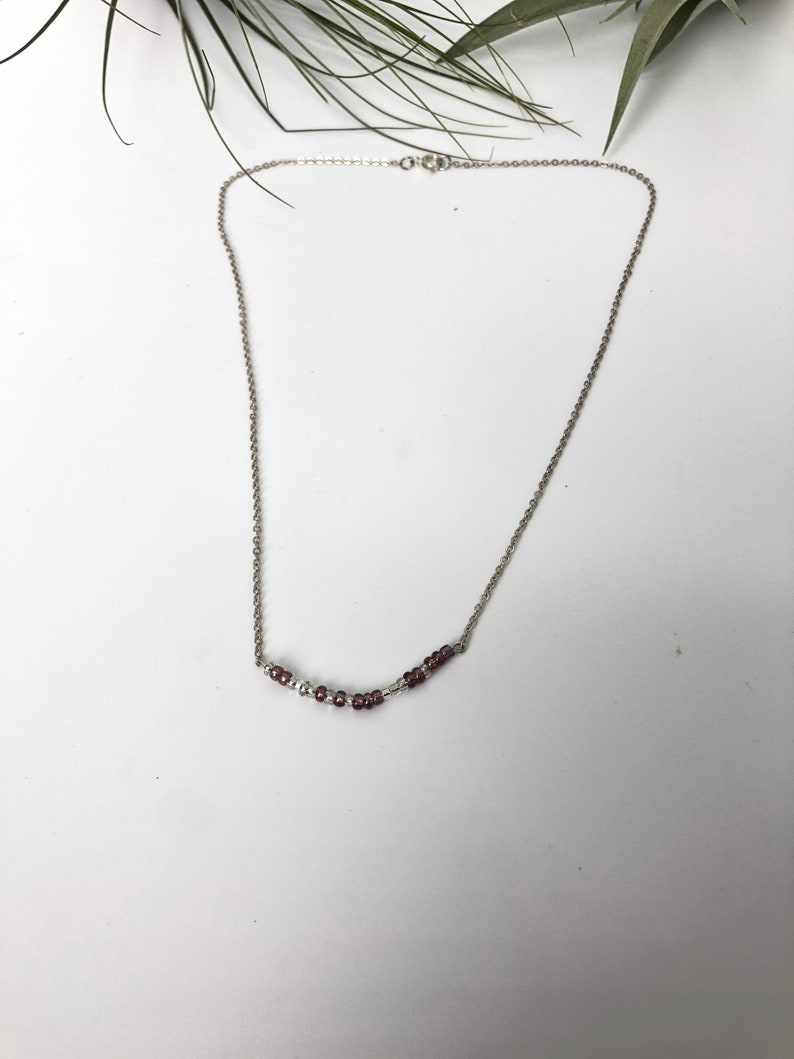 Customized Morse code silver chains Necklace