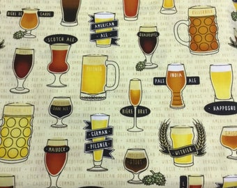 Quilting Treasures-1649-25987-S-In Doubt, Drink Stout-  CT120107100% Quality Cotton by the Yard or Yardage