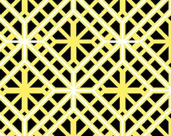 Kanvas Studios -Lemon Twist-Geo Trellis Yellow/Black-8409 33-CT121977-100% quality cotton